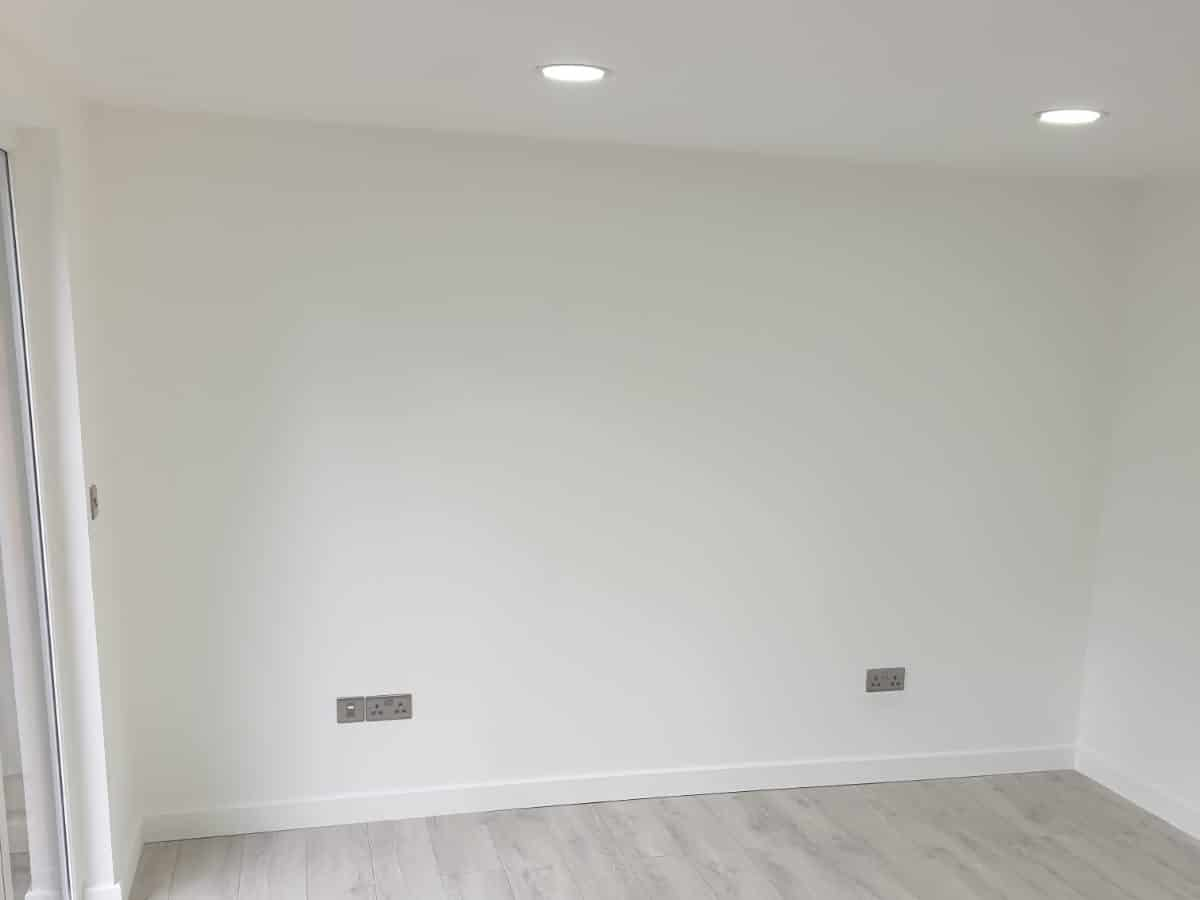 Electrics and lights for Garden Room