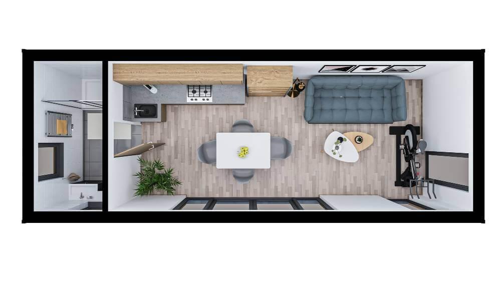 Westbury Garden Room - layout