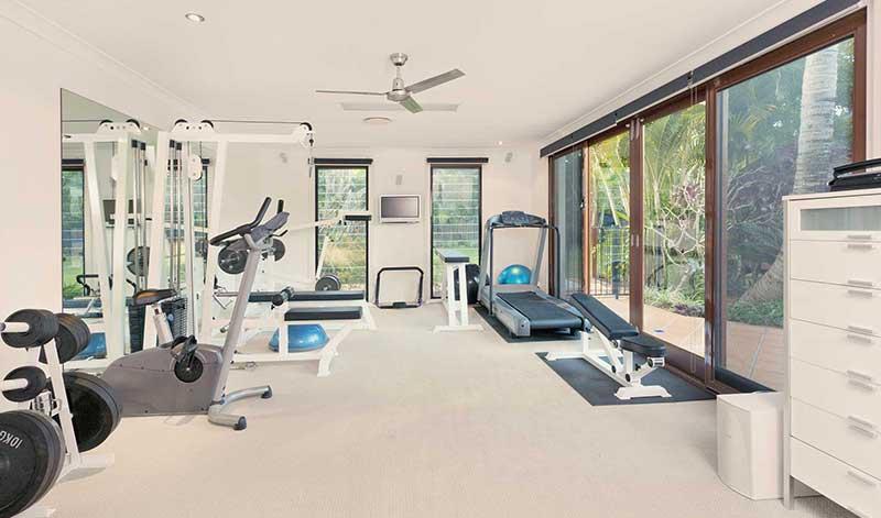 Home gym setup - Garden Room